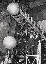 Caltech's High Voltage Lab in the 1920s