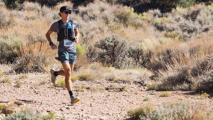 Andy Boyle running in the mountains