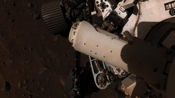 Picture of MEDA deployment on the rover.