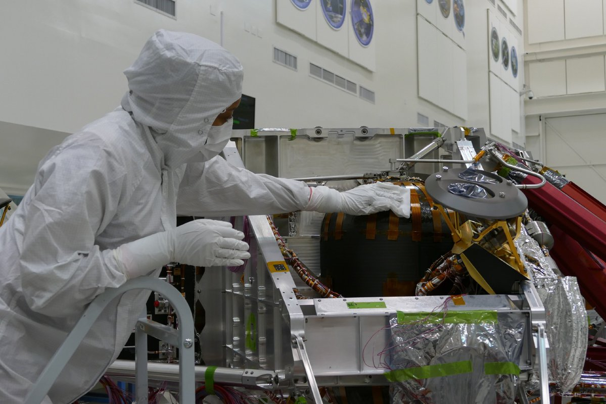 man in JPL clean room