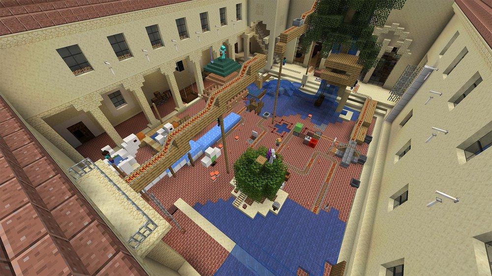 Blacker courtyard