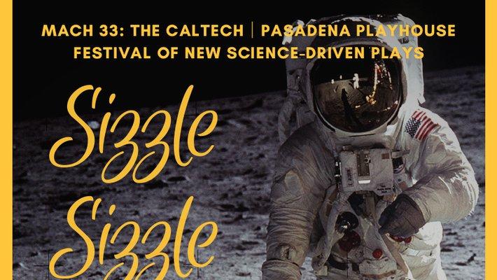Poster art of astronaut on moon