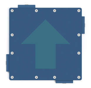 Image of a blue tile with an arrow pointing up.